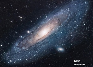 Andromeda galaxy and general relativity