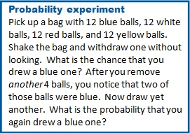 Probability Experiment