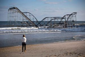 Roller coaster in the ocean after H. Sandy